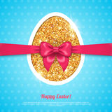 Happy Easter greeting card template Stock Photography