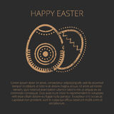 Happy easter Greeting card template with Golden eggs Stock Image