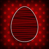 Happy Easter greeting card template Royalty Free Stock Image