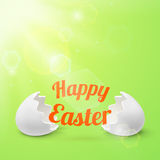 Happy easter. Greeting card template Royalty Free Stock Photos