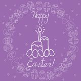 Happy Easter greeting card. Vector. Royalty Free Stock Image