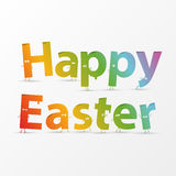 Happy Easter Greeting Card. Vector Royalty Free Stock Image