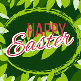 Happy easter Greeting Card. Vector illustration. royalty free stock photography
