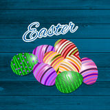 Happy easter Greeting Card. Vector illustration. Royalty Free Stock Images