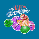 Happy easter Greeting Card. Vector illustration. stock image