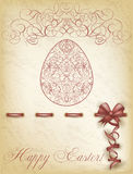 Happy Easter greeting card in vintage style Royalty Free Stock Photo