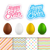 Happy Easter greeting cards creation kit Royalty Free Stock Photo