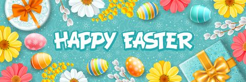 Happy Easter Greeting stock illustration