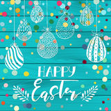 Happy Easter Greeting holiday celebration card Stock Photo