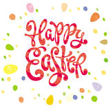 Happy Easter greeting inscription Royalty Free Stock Photo
