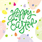 Happy Easter greeting inscription Royalty Free Stock Image