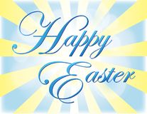 Happy Easter Greeting with light effect. Happy Easter Greeting with blue and yellow light effect Royalty Free Stock Image