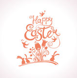 Happy Easter greeting template. Royalty Free Stock Photos