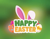Happy Easter greeting vector Stock Image