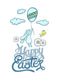 Happy Easter greeting vector Stock Photo