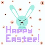 Happy Easter greetings. Can be used for greeting and invitation cards, mugs, posters and etc. stock illustration