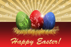 Happy Easter greetings card Stock Photography