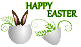 Happy easter greetings card Stock Images