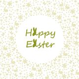 Wishing you a happy easter. Happy easter greetings. Clean and simple card design with different pattern Royalty Free Stock Images