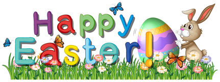 A happy easter greetings in the garden Royalty Free Stock Images
