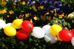 Happy easter greetings. The picture shows happy easter greetings stock photos