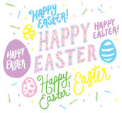 Happy Easter Hand Drawn Easter Vector Graphics Stock Photography