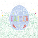 Happy Easter card. Easter background. Easter sunday. Easter egg. Easter hand lettering. Easter greeting card. Royalty Free Stock Photography