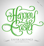 Happy easter hand lettering. Handmade calligraphy Stock Images