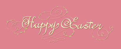 HAPPY EASTER hand lettering Royalty Free Stock Photo