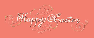 HAPPY EASTER hand lettering Royalty Free Stock Photos