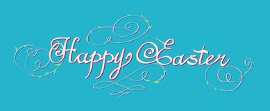 HAPPY EASTER hand lettering Stock Images