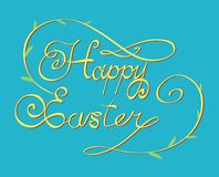 HAPPY EASTER hand lettering Stock Image