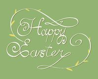 HAPPY EASTER hand lettering Stock Photo