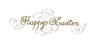 HAPPY EASTER hand lettering Stock Photography