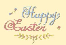 HAPPY EASTER hand lettering Royalty Free Stock Photography
