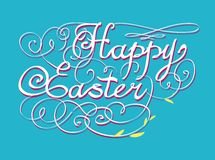 HAPPY EASTER hand lettering Royalty Free Stock Images