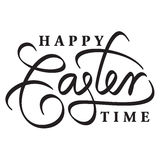 Happy easter hand lettering Stock Photos
