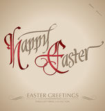 HAPPY EASTER hand lettering (vector) Stock Image
