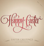 'happy easter' hand lettering (vector) Stock Images