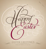 happy easter hand lettering (vector) Royalty Free Stock Image