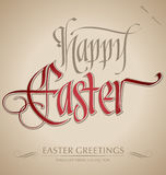'happy easter' hand lettering (vector) Stock Photo