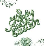 Happy Easter hand sketched lettering Royalty Free Stock Image