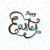 Happy easter hand written design. Creative happy easter hand written text design Royalty Free Stock Images