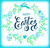Happy Easter composition Royalty Free Stock Image