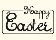 Happy Easter Handwritten Word Typography Logo. Happy Easter Font Handwritten Word Typography Logo vector illustration