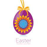 Happy Easter hanging kaleidoscope symbol egg vector Royalty Free Stock Images