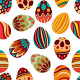 Happy Easter! Happy holiday eggs pattern,seamless background for your greeting card design. Cute decorated easter eggs Royalty Free Stock Photography