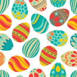 Happy Easter! Happy holiday eggs pattern, seamless background for your greeting card design. Cute decorated easter eggs Royalty Free Stock Image