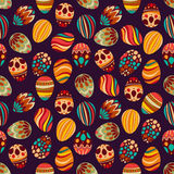 Happy Easter! Happy holiday eggs pattern, seamless background for your greeting card design. Cute decorated easter eggs Stock Image