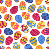 Happy Easter! Happy holiday eggs pattern, seamless background for your greeting card design. Cute decorated easter eggs Royalty Free Stock Images